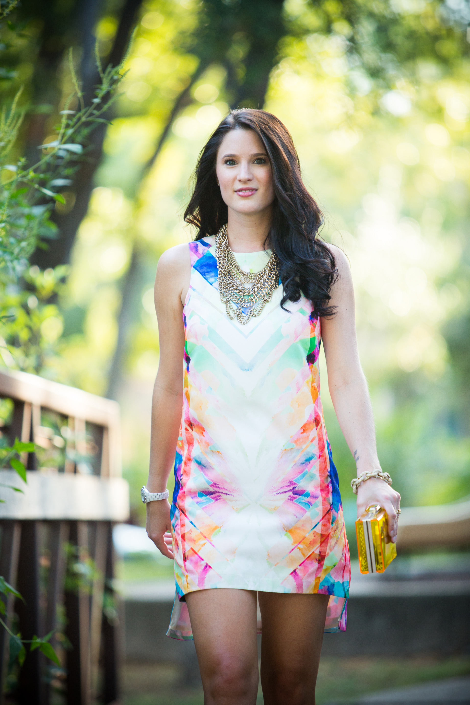 Multi-Colored Dress | how to style a multi-colored dress | how to wear a multi-colored dress | summer fashion tips | summer outfit ideas | summer style tips | what to wear for summer | warm weather fashion | fashion for summer | style tips for summer | outfit ideas for summer || Dressed to Kill