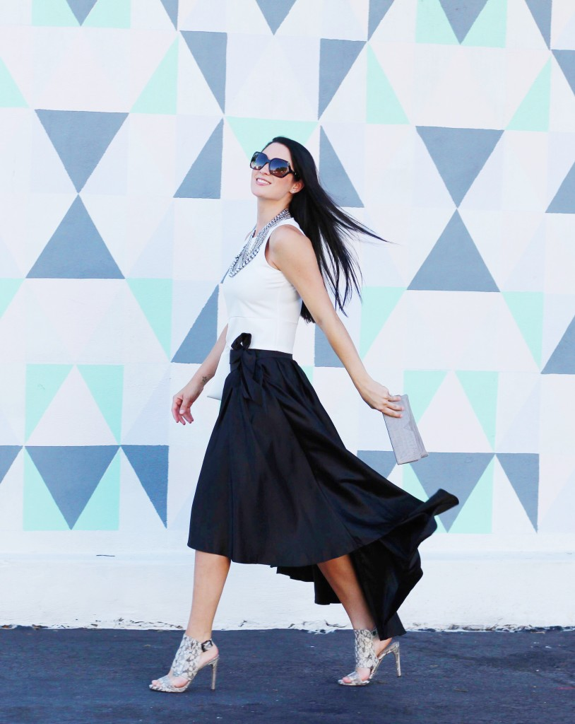 White Top and Black Skirt | how to style an asymmetric skirt | how to wear an asymmetric skirt | summer fashion tips | summer outfit ideas | summer style tips | what to wear for summer | warm weather fashion | fashion for summer | style tips for summer | outfit ideas for summer || Dressed to Kill